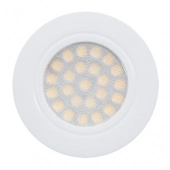 мебелна led луна за вграждане, бял, 4w, ultralux, бяла светлина, 4200k, 330lm, lml220442w