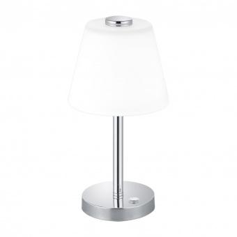 стъклена настолна лампа, chrome, trio, emerald, led 1x4w, 3000k, 350lm, 525490106