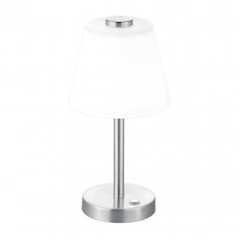 стъклена настолна лампа, nickel matt, trio, emerald, led 1x4w, 3000k, 350lm, 525490107