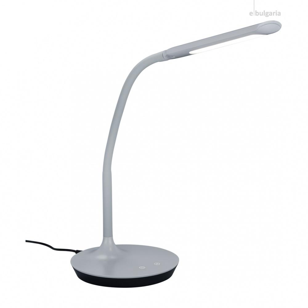 pvc работна лампа, grey, trio, polo, led 1x5w, 3000k-4000k-5000k, 550lm, 527090111