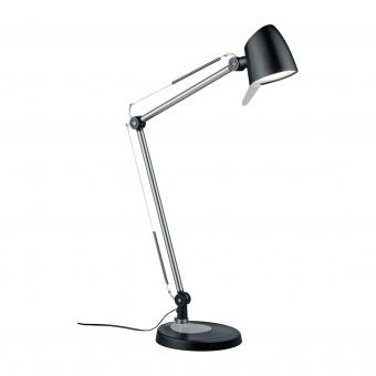 метална работна лампа, black matt, trio, rado, led 1x5w, 3000k-4000k-5000k, 550lm, 527690132