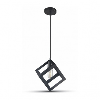 метален пендел, mat black, 1x40w, 3834