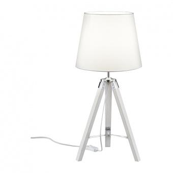 дървена настолна лампа, white, rl, tripod, 1x40w, r50991001