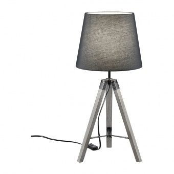 дървена настолна лампа, grey, rl, tripod, 1x40w, r50991011