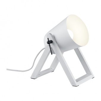 дървена работна лампа, white matt, rl, marc, 1x25w, r50721031