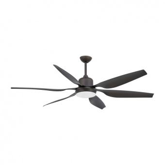 таванен вентилатор, dark brown, faro, tilos, 2x15w, 6 степени на работа, 33466
