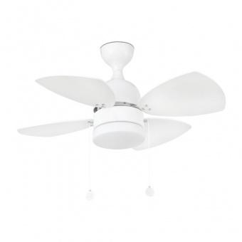 таванен вентилатор, white, faro, mediterraneo, 1x8w, 3 степени на работа, 33704