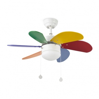 таванен вентилатор, multicolour, faro, palao, 2x8w, 3 степени на работа, 33179