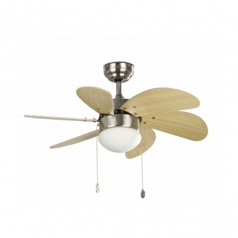 таванен вентилатор, matt nickel, faro, palao, 2x8w, 3 степени на работа, 33183