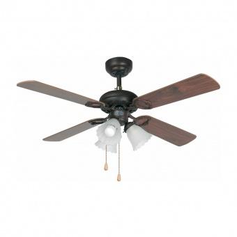 таванен вентилатор, dark brown, faro, lisboa, 3x15w, 3 степени на работа, 33102