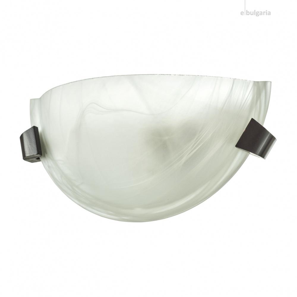 стъклен аплик, венге, elbulgaria, 1x40w, 1534/1w