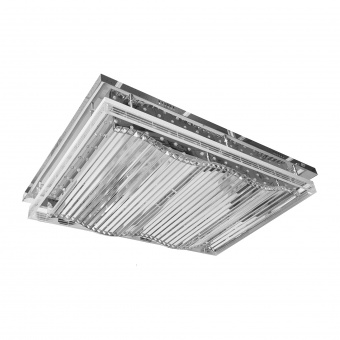 метален плафон, хром, elbulgaria, led 60w 3000,4000,6000k, 1548/18 ch