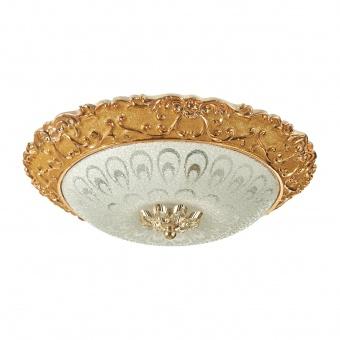 стъклен плафон, злато, elbulgaria, 3х40w , 1536/30