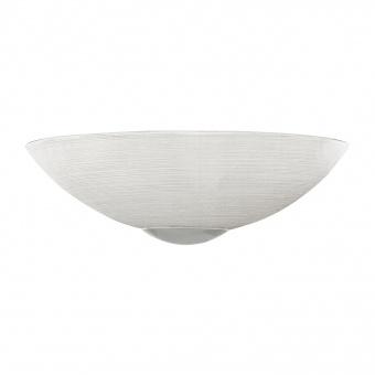 стъклен аплик, white, eglo, malva, 1x60w, 90017