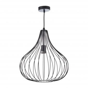метален пендел, черен, elbulgaria, 1x40w, 1572 bk