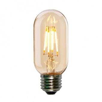led лампа 4w, e27, топла светлина, 2700k, led lamp filament t45 smoke