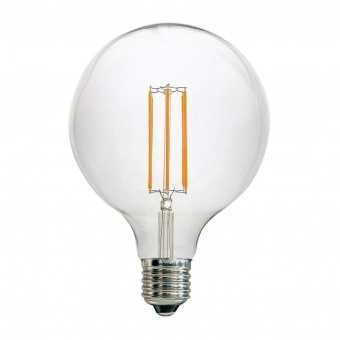 led лампа 7w, e27, топла светлина, 2700k, 800lm, led lamp filament g125
