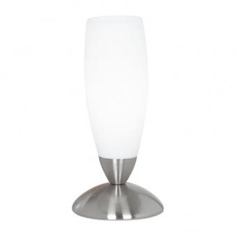 стъклена настолна лампа, white, eglo, slim, 1x40w, 82305