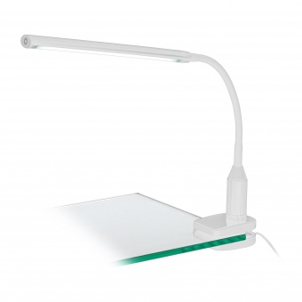 pvc настолна лампа, white, eglo, laroa, led 4.5w, 4000k, 550lm, 96434