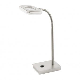 метална работна лампа, satin nickel, eglo, litago, led 1x4w, 3000k, 1x350lm, 97017