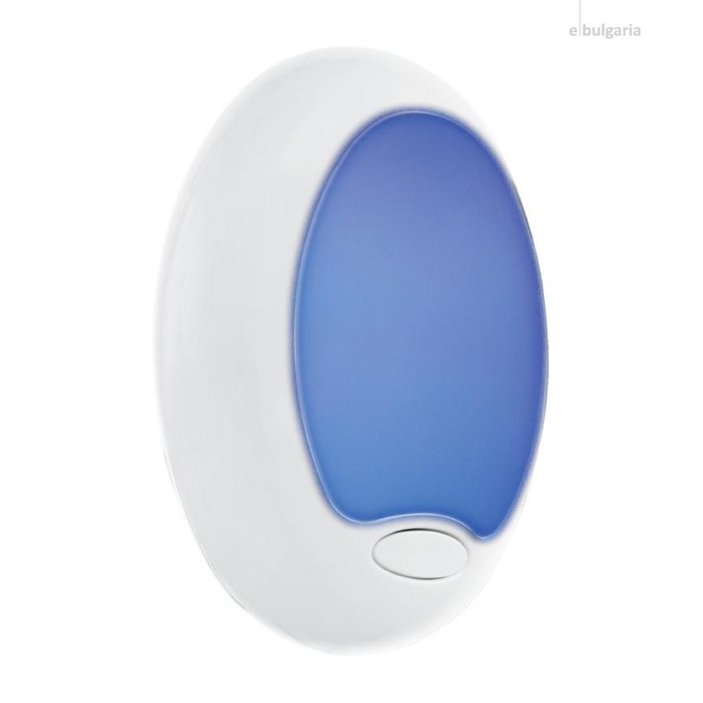 pvc нощна лампа, white, eglo, tineo, led 0.6w(3 led) rgb, 92964