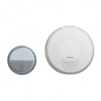 сигнален звънец, безжичен 15 мелодии, 220v, 100m., 100% wireless, legrand, 94254