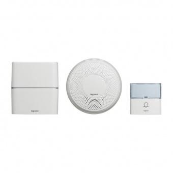 сигнален звънец, безжичен мелодии с индикатор, 220v, 200m., опция mp3, 100% wireless, legrand, 94272