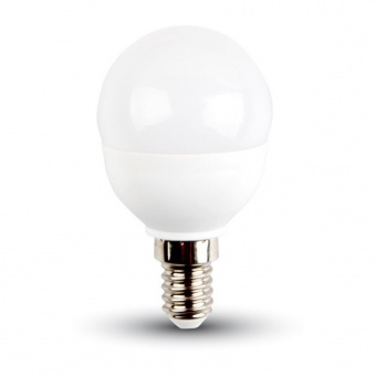 led лампа 4.5w, e14, бяла светлина, p45 bulb,samsung чип, 4000k, 470lm, 265