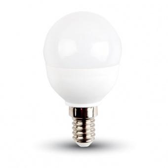 led лампа 4.5w, e14, студена светлина, p45 bulb,samsung чип, 6400k, 470lm, 266