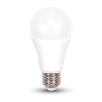 led лампа 6.5w, e27, топла светлина, a60 bulb, samsung чип, 3000k, 806lm, 255