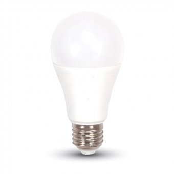 led лампа 6.5w, e27, студена светлина, a60 bulb, samsung чип, 6400k, 806lm, 257