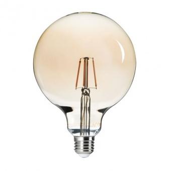 led лампа 6w, e27, топла светлина, kanlux, g125 filled, 2500k, 650lm, 26042