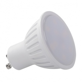 led лампа 7w, gu10, топла светлина, kanlux, tomi, 3000k, 500lm, 22821