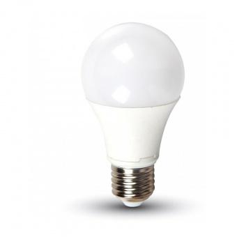 led лампа  9w, e27, студена светлина, a58, bulb, samsung чип, 6400k, 725lm, 158