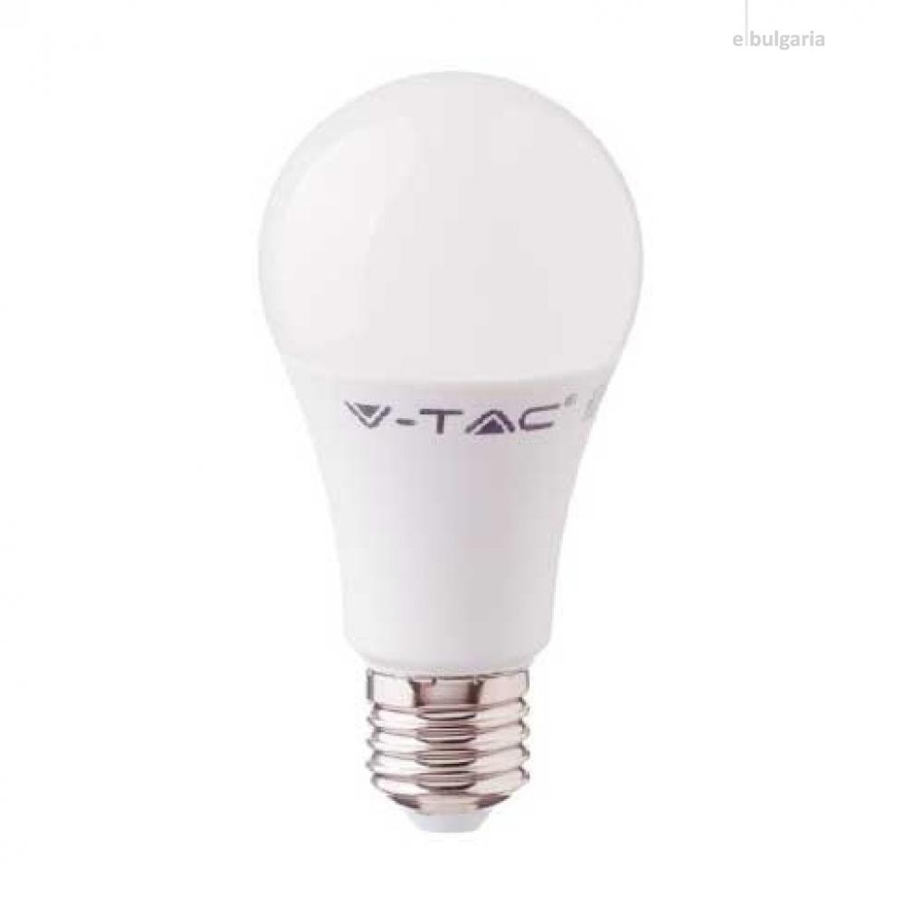led лампа  9w, e27,  бяла светлина, a58, bulb, samsung чип, 4000k, 806lm, 229