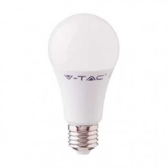 led лампа  9w, e27,  студена светлина, a58, bulb, samsung чип, 6400k, 806lm, 230