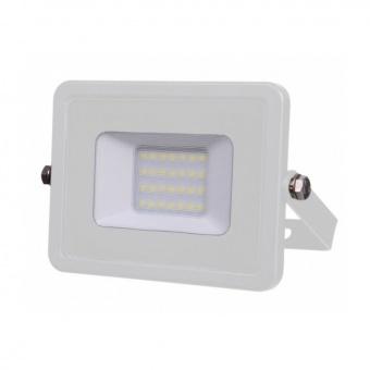 лед прожектор, бял, 20w, топла светлина, samsung чип, 3000k, 1600lm, 442