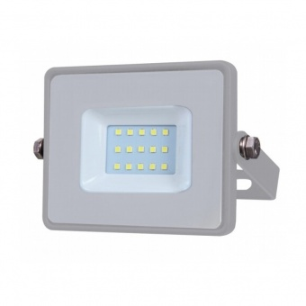 led прожектор, сив, 10w, студена светлина, samsung чип, 6400k, 800lm, 432