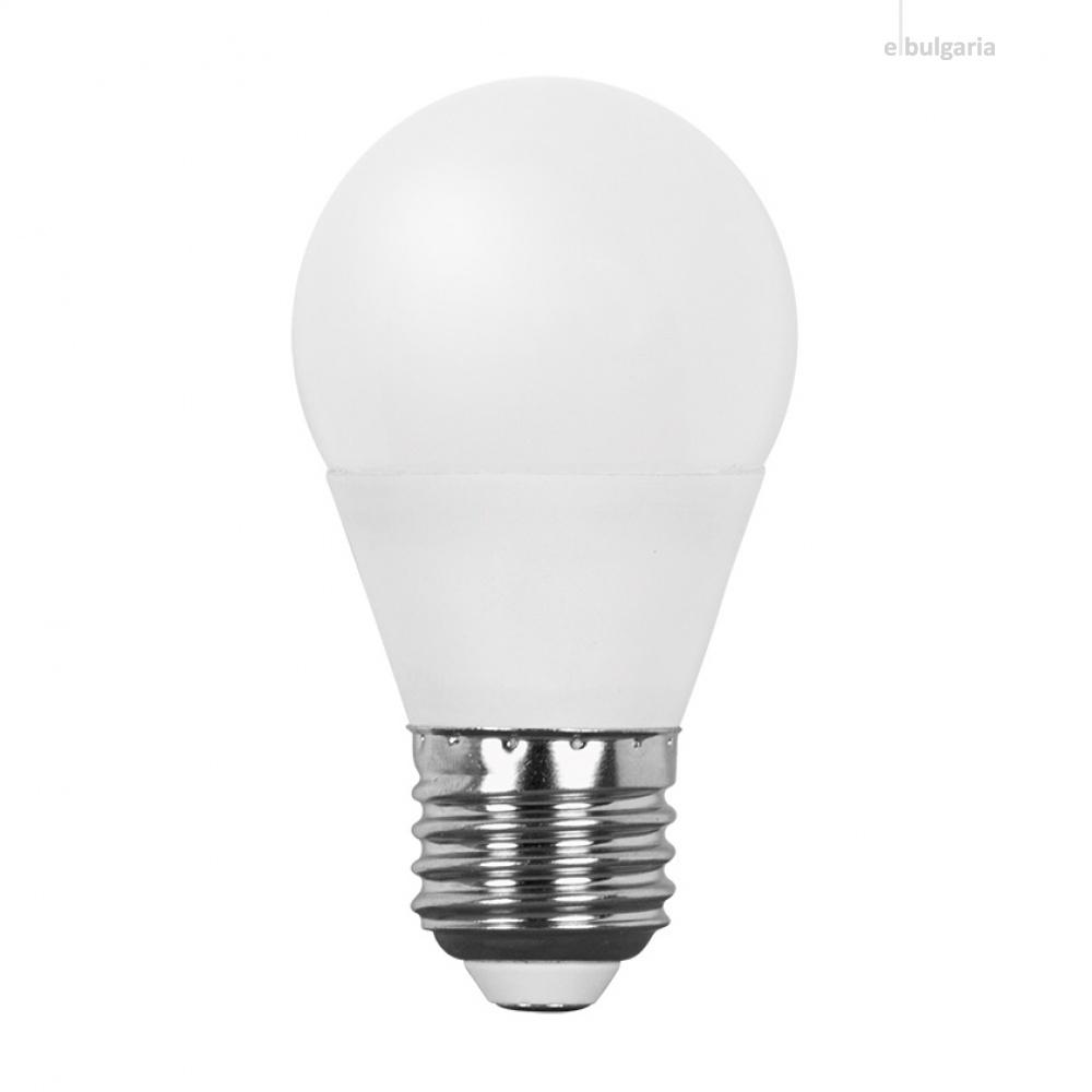 led лампа 7w, e27, топла светлина, ultralux, 2700k, 600lm, lbg72727