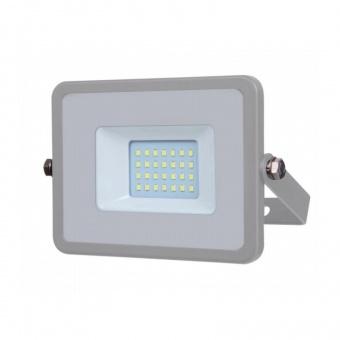 led прожектор, сив, 20w, бяла светлина, samsung чип, 4000k, 1600lm, 446