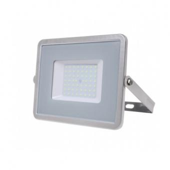 led прожектор, сив, 50w, топла светлина, samsung чип, 3000k, 4000lm, 463