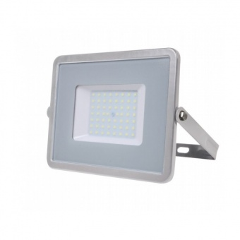 led прожектор, сив, 50w,  студена светлина, samsung чип, 6400k, 4000lm, 465