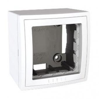 конзола за открит монтаж единична бяла, schneider, unica, mgu22.302.18
