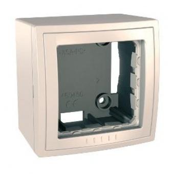 конзола за открит монтаж единична бяла, schneider, unica, mgu22.302.25