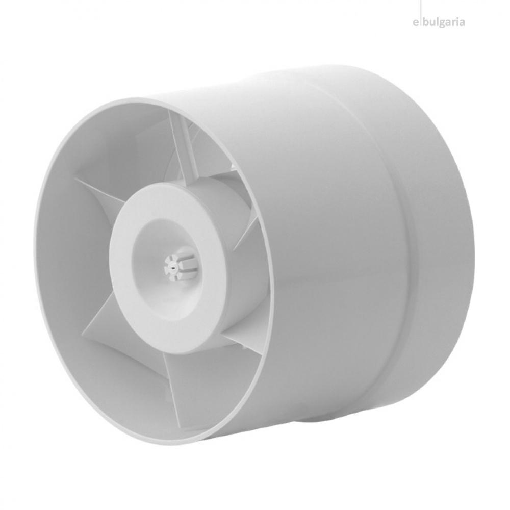 канален вентилатор, бял,kanlux, ф150, 200m3/h, 22w, wir wk-15, 70903