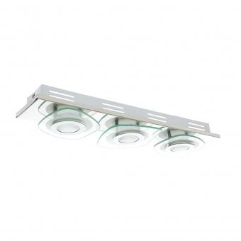 стъклен плафон, хром, elbulgaria, led 3x5w, 3000k, 852/3