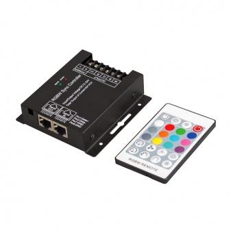 rf контролер за rgb светодиодно осветление, 6-24v dc, 288w, 24a, ultralux, rgbwrfc24