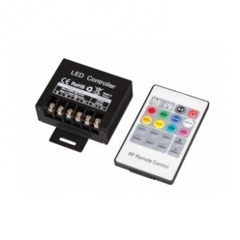rf контролер за rgb светодиодно осветление, 12-24v dc, 240w, 20a, ultralux, rgbrfc20