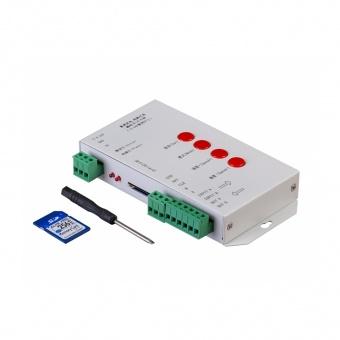 универсален контролер за дигитална лед лента с sd карта, ultralux, 5v-24v dc, sdc1t