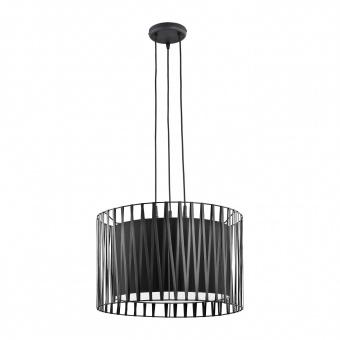 метален полилей, black, tk lighting, harmony black, 3x60w, 1655